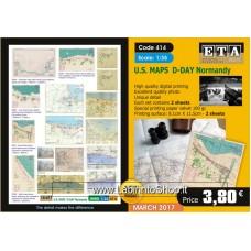 ETA Diorama - 414 - WWII - 1/35 - U.S. Maps D-Day Normandy