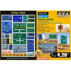 ETA Diorama - 397 - Syria War - 1/35 - Road Signs