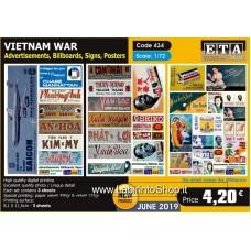 ETA Diorama - 434 - Vietnam War - 1/72 - Advertisement Billboards Signs