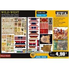 ETA Diorama - 444 - Wild West - 1/72 - Posters Flags Blakets