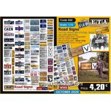 ETA Diorama - 502 - WWII - 1/72 - Road Signs
