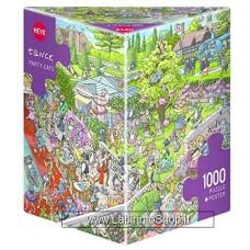 Puzzle - Heye Puzzle - Traingolare - Party Cats - Tanck 1000 Pezzi