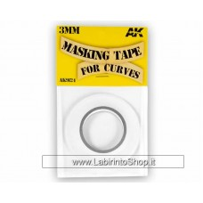 AK Interactive - AK9124 - Masking Tape For Curves 3mm