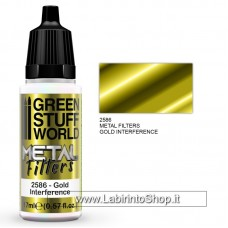 Green Stuff World Set Metal Filters - Interference Colours - Gold Interference