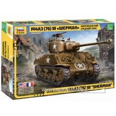 Zvezda 1/35 Us Medium Tank M4A3 76 W Sherman
