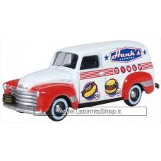 Oxford 1/76 Chevrolet Panel Van Hanks Country Diner 1950