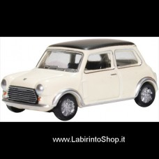 Oxford 1/76 Mini Cooper S MkII Snowberry White/Black