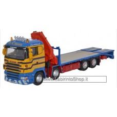 Oxford 1/76 Scania Crane Lorry - D R Macleod