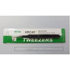 Vetus Tweezers HRC 40 ST-17 (115mm, Staight) fine Super Tweezer